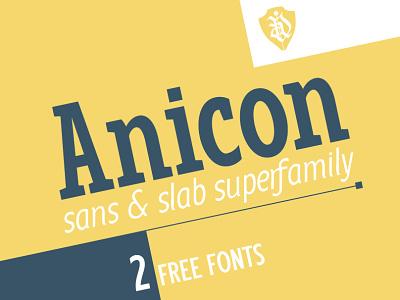 Anicon superfamily slab serif grotesque sans serif lettering typeface font