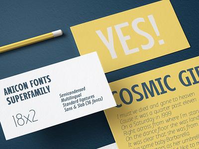 Anicon typeface serif grotesque sans serif lettering typeface font