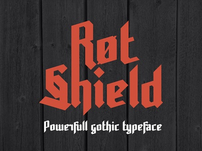 Rot Shield typeface