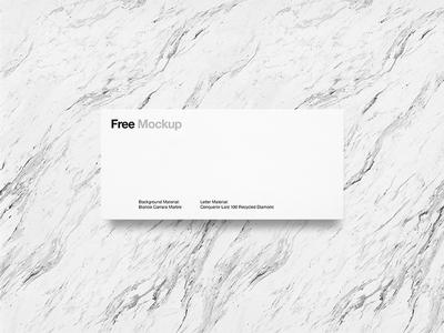 Envelope Free Mockup mockup marble envelope