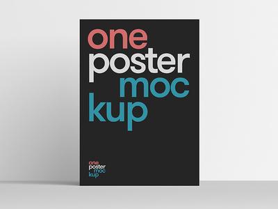 One Poster Mockup download font design free typo artwork mockup minimal poster