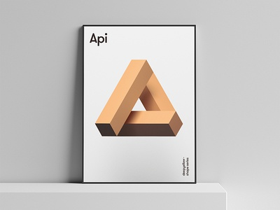 Api Poster – Deepshape Series design form geometry graphics shape poster api deepyellow deepshape