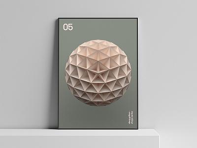 05 Poster – Deepshape Series shape poster graphics geometry form design deepyellow deepshape 05