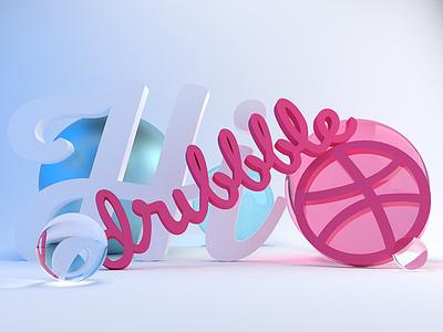 Yo Dribbble! :) blender debut shot hello first