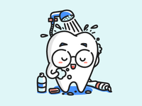 A Bathing Tooth