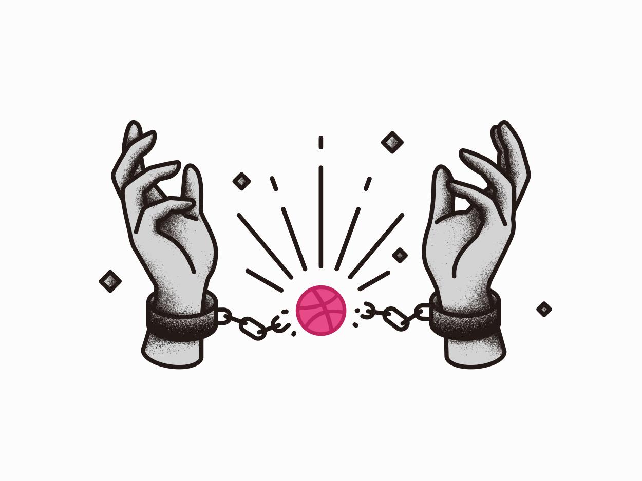 Hello, Dribbble first design illustration