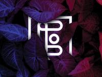 E typography illustrator vector graphic design minimal nature logotype logo rebound