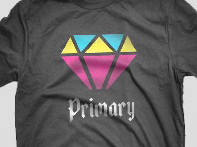 Primary primary color diamond tshirt type flat