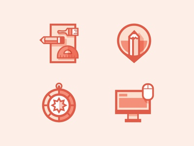 Madetrue Icons illustration branding art direction web design icon icons pencil paint brush ruler compass mouse