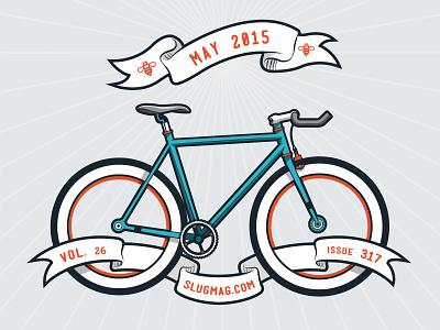 Slug Bike Month 800x600 magazine banner illustration may slug bike