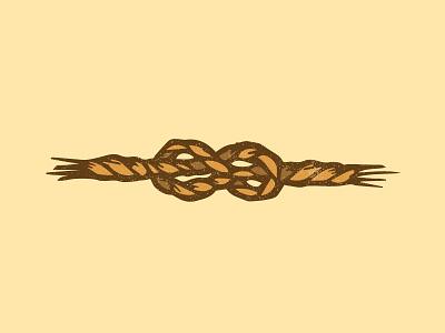 Sailors Knot rope sailor vector knot