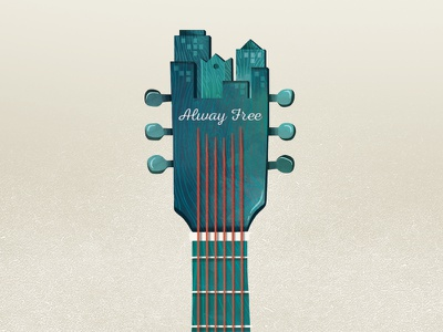 SLUG Cover local instrument magazine slc music illustration guitar