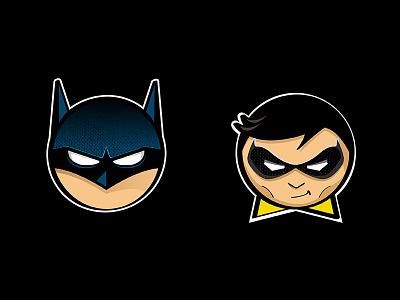 Batman & Robin icons icon illustration character texture