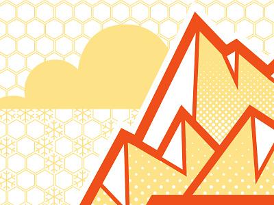 AIGA 100 Show Mountains illustration vector aiga 100show risermedia