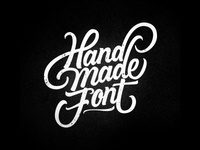 Hand Made Font Logo