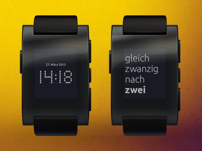 Pebble Fuzzy Clock (german)