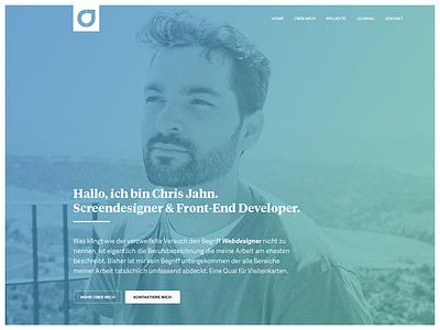 chrisjahn.de 2014 portfolio colorful mockups website screendesign