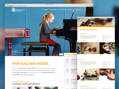 Website for municipal music school wip events website education municipal school music