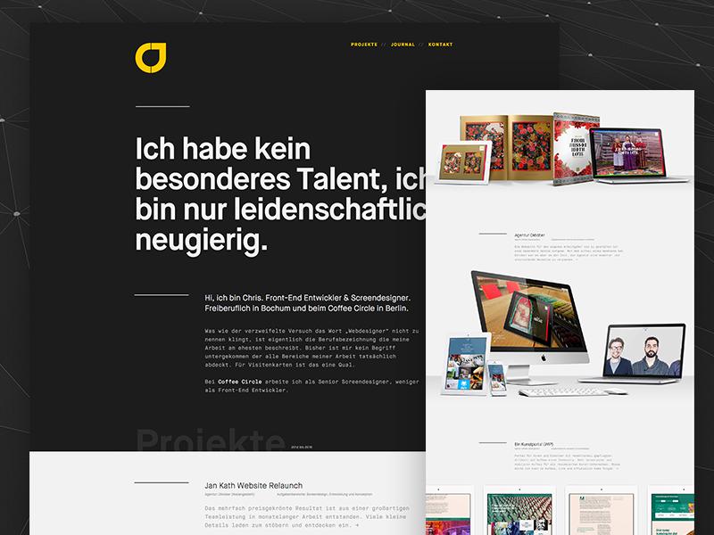 chrisjahn.de — 2015 relaunch responsive personal portfolio black relaunch