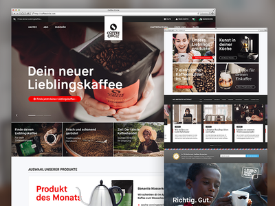 Coffee Circle — Front-Page relaunch front-page coffee preview