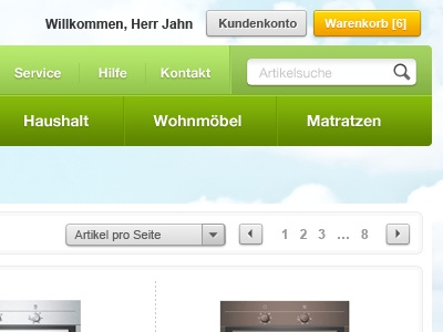 Greenish 2 shop website add-to-cart