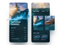 """World Of Warships"" APP Tool Concept"