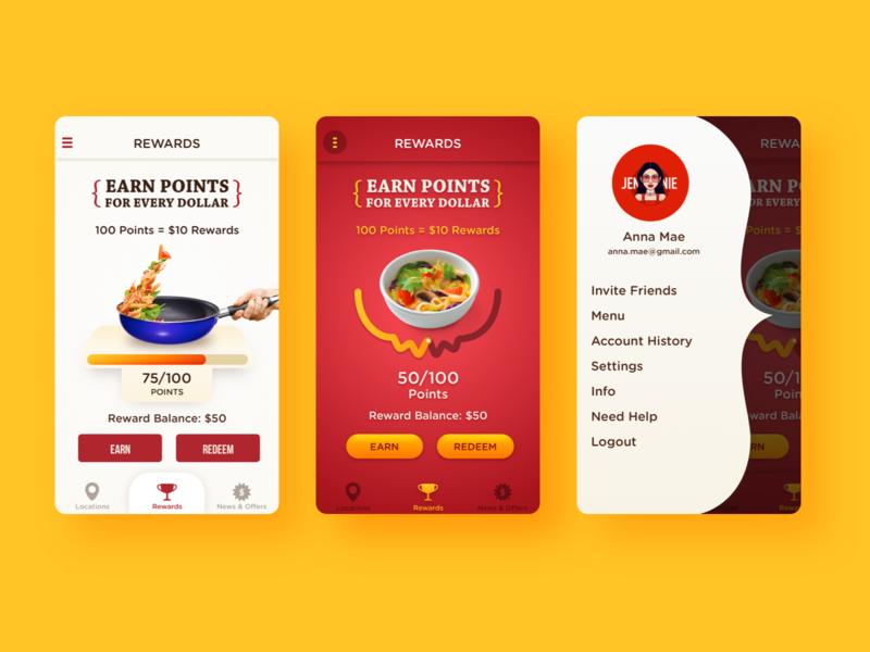 Noodles App dribbble sketchapp uidesign ios android app punchh loyalty app uiux mobile app design mobile app