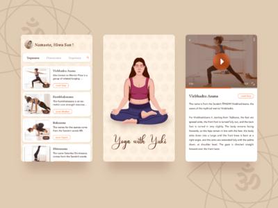 Yoga with Yuki sketch app iphone android ui ux creative illustration mobile app app design yoga app