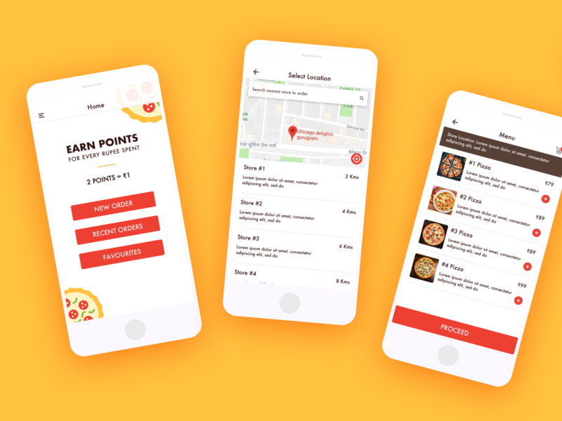 Online Order #1 brand hungry red flat ui uidesign limetray food app olo online order order flow