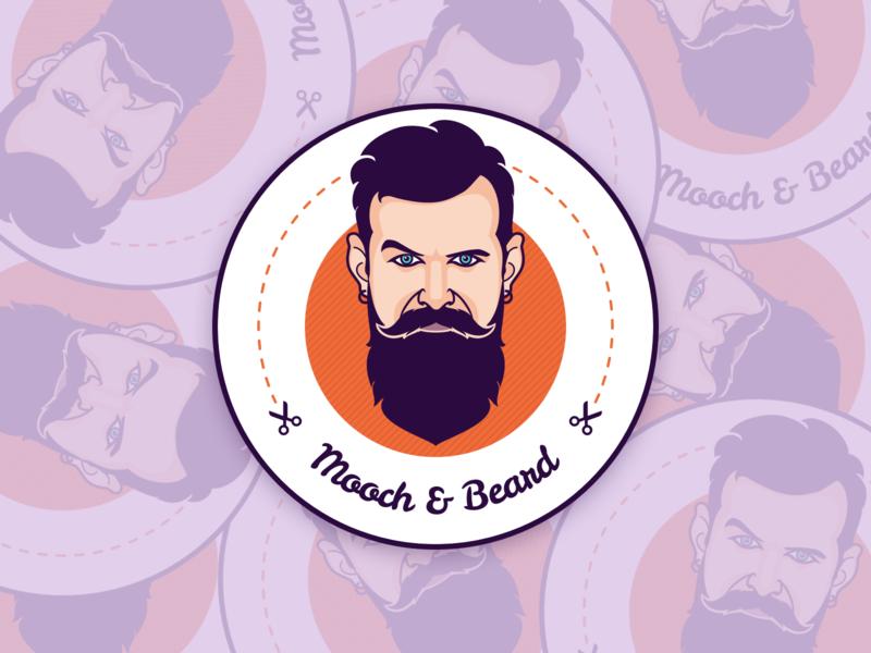 Mooch & Beard contest beard mooch sticker mule dribbble pixel vector art sketch app man illustration coaster