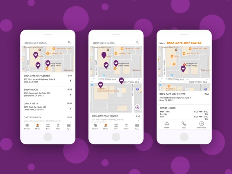 Location List sketch app food app vb google maps location ui creative mobile app ui design walkthrough app design