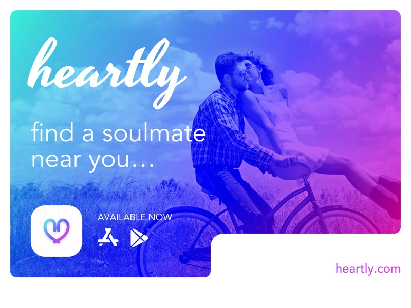 Heartly Dating dribbble ios android love sketchapp app icon uiux mobile design heartly tinder dating app app design