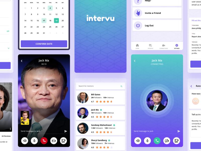 Video Invu App dribbble sketchapp iphone11 ios11 illustrations ios android mobile uiux app design