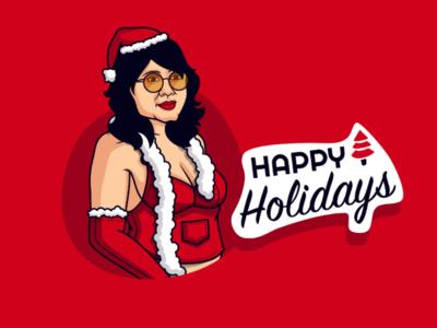 Happy Holidays🎄 Sexy Santa🤶🏻 hot avatar red sexy annabelle sketch app vector art illustration christmas