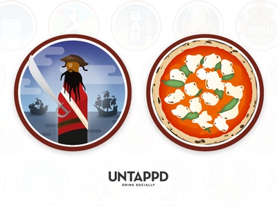 Untappd Badges pirate blackbeard pizza craft beer