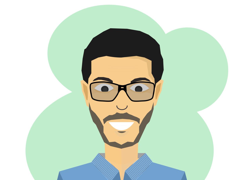 Specky boy illustration sketch man human design vector illustration