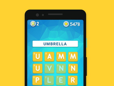 Mobile Word game UI letter mobile game ux fun warm word design game ui