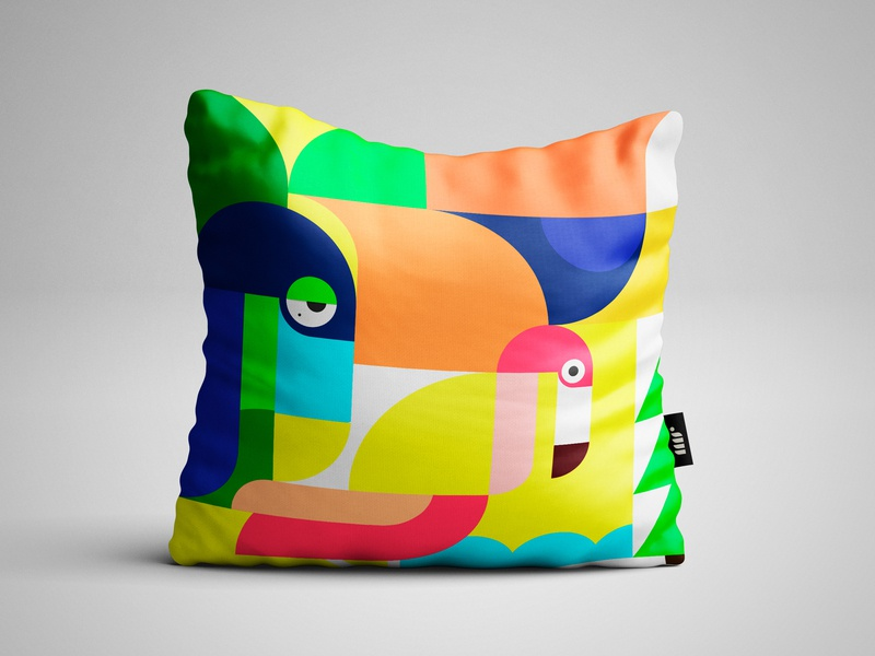 Pillow by mr graphic art design geometry shape vector coloful art illustration