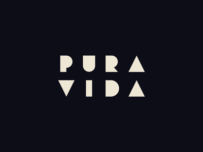 Puravida brown green shapes geometry branding