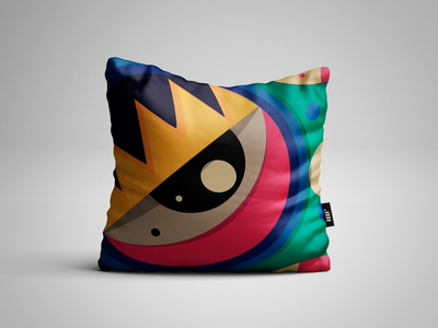 Mr pillow cool confortable colours illustration