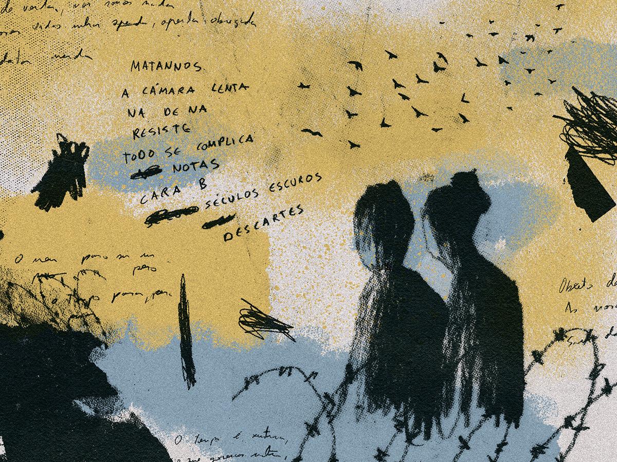 Ausencias collage design illustration
