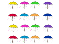 Colorful Rain Umbrellas