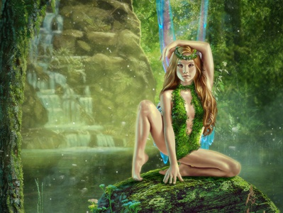 Faery illustration cover art fantasy