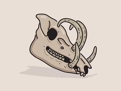 Boar skull vector illustration skull boar
