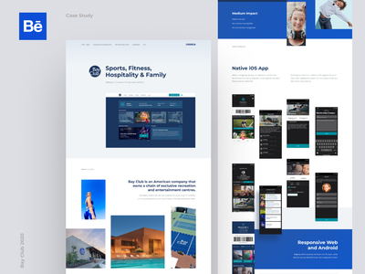 BayClub Case Study web app ux ui behance project case study behance design