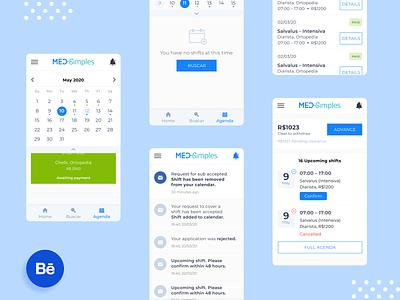 MedSimples calendar ux healthcare healthtech mobile app ui design