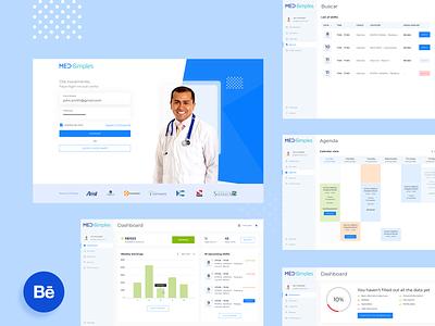 MedSimples website healthtech healthcare app ux ui design
