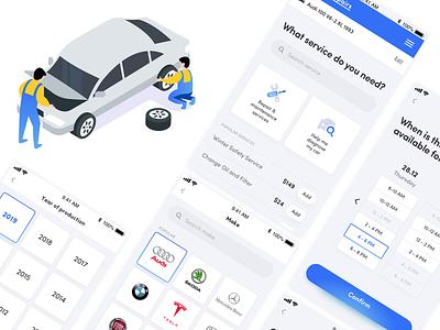 Services App Exploration #2 app concept service app repair mechanic icon ux icons illustration vector ui design