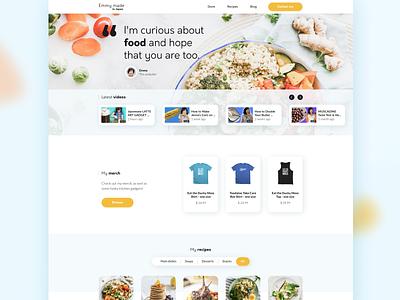 Emmy made website #1 landing page website youtube redesign responsive recipes shop web ux e-commerce ui design
