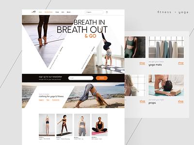 Yoga e-commerce webdesign redesign web app typography fitness yoga shop e-commerce ux ui design